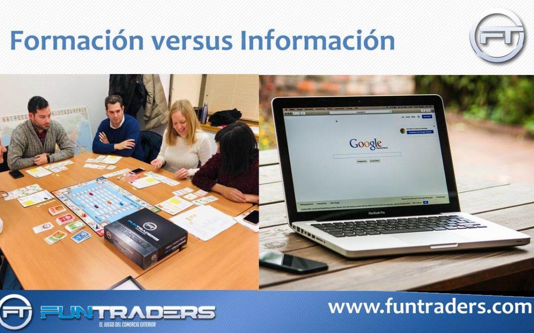 Formación versus información